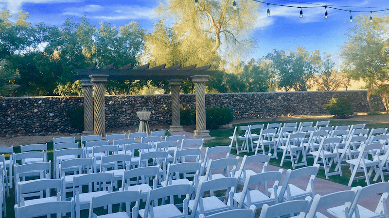 North Valley Garden Outdoor Wedding Phoenix